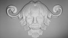 3d Model designed for Food Gate furniture project. Poseidon Zeus Neptun. #cabinet #woodwork #historic #custom #neptun #zeus #poseidon #3d model #head #homedecor