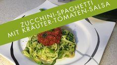 Thermomix® TM5 - 🥒 Zucchini-Spaghetti mit Kräuter-Tomaten-Salsa 🍅 - Vega...