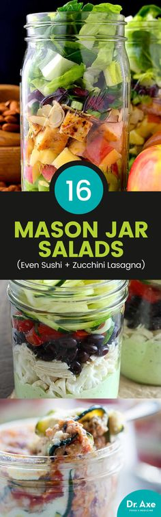 I can't get enough of Mason jar salads. I love how portable and perfectly portioned these fun little jars make everything, especially these healthy salads.