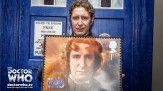I am the Doctor! - Paul McGann (the Eighth Doctor) with his Doctor Who stamp