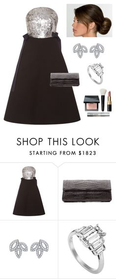 """""""A Star Studded Night!"""" by kotnourka ❤ liked on Polyvore featuring Delpozo, Nancy Gonzalez, Harry Winston and Bobbi Brown Cosmetics"""