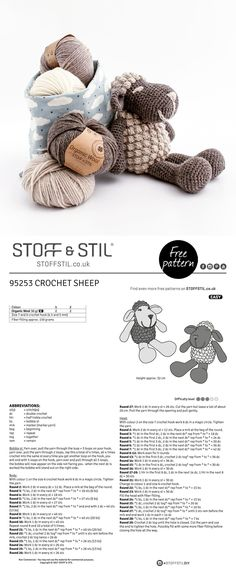 Free pattern for a sweet crochet sheep Free pattern for a sweet crochet sheep Related Animal And Other Attractive Amigurumi Pattern Ideas. Amigurumi Free, Crochet Amigurumi, Amigurumi Patterns, Crochet Dolls, Crochet Baby, Knitting Patterns, Knit Crochet, Crochet Patterns, Crochet Sheep Free Pattern