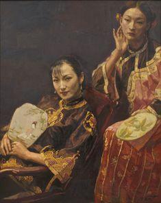 Chen Yifei - Two Beauties
