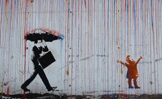 in the Rain, Street Art Lademoen Banksy, Singing In The Rain, Mural Art, Artsy Fartsy, Bunt, Art For Kids, Art Drawings, Graffiti, Cool Stuff