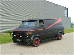 Il mio New A-team van 2013  by: 01a-teamservice.com A Team Van, Route 66, Gmc Vans, American Stock, Chevy Van, Panel Truck, Favorite Tv Shows, Favorite Things, The A Team