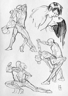 Some anatomical studies - (Sport) by Laura Braga, via Behance.