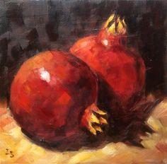 Irina Beskina Gallery of Original Fine Art Pomegranate Art, Oil On Canvas, Canvas Art, Still Life Fruit, Moon Painting, Nature View, Amazing Drawings, Fine Art Gallery, Pomegranates