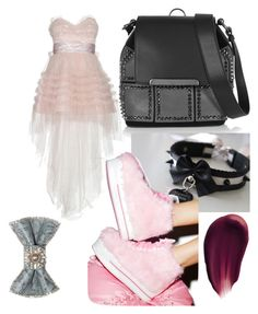 """""""Fluffy Sneakers"""" by p0llyinurpocket ❤ liked on Polyvore featuring Christian Louboutin, Yves Saint Laurent, Y.R.U., Bijoux de Famille and Hourglass Cosmetics"""