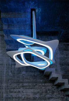 Vortex Chandelier Designer: Zaha Hadid and Patrik Schumacher Anno: 2007