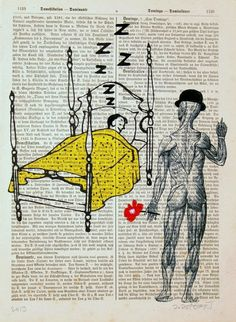 ZZZ I LOVE YOU print poster mixed media painting by artretro, $12.00