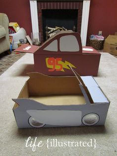 Flo & Lightning McQueen cars for drive-in movie theater: life {illustrated}