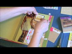 Craft Warehouse Back 2 Basics: Pink Smash Book Page. This girl has so many inspirational SMASH videos!