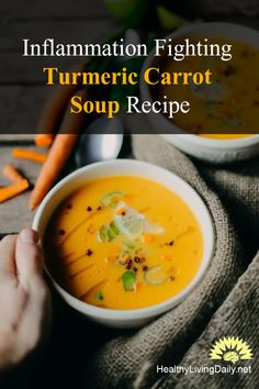 This healthy and delicious turmeric carrot soup has an anti-inflammatory compound which can help combat arthritis. Read this article to find out more. 👌😘🤤🥘  #turmericsoup #carrotsoup #turmericcarrotsoup #turmericrecipe #turmericsouprecipe #turmericcarrotsouprecipe #carrotsouprecipe #healthyrecipe #turmeric #carrots #carrotsandturmeric #carrotturmericsoup #antiinflammatorycarrotsoup #curcumin #healthylivingdaily #followme #follow