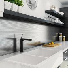 Inoxia SpeedTiles - Linox Mosaic Self Adhesive Metal Tile - Per Tile - LINOX ID811-2 - Home Depot Canada