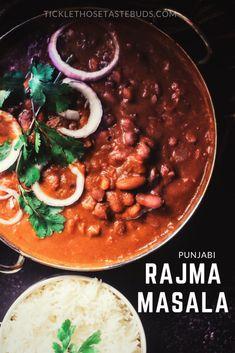 Punjabi Rajma Masala | Tickle Those Taste Buds Kidney Bean Curry, Beans Curry, Punjabi Cuisine, Tandoori Roti, Homemade Beans, How To Soak Beans, Tomato Gravy, Vegetarian Curry, Indian Food Recipes