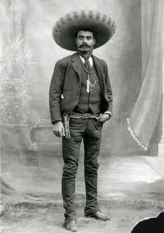 Emiliano Zapata was the greatest idealist of the Mexican Revolution (1910-1920). He led a rebel army until his assassination in 1919.