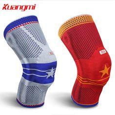 Kuangmi Gel Knee Pad Sports Knee Brace Basketball Knee sleeve Patella Protector Running Skate Ski 1PC
