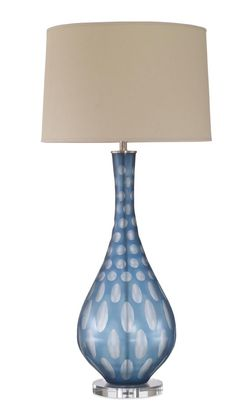 Dartmoor Table Lamp from Mr Brown London - Dering Hall Tall Lamps, Large Lamps, Contemporary Style Homes, Contemporary Lamps, Mr Brown, Blue Table Lamp, Modern Furniture Stores, Retro Lamp, Wholesale Furniture