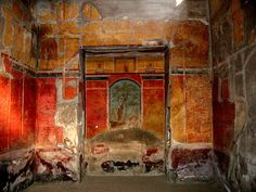 Discover Ruins of Oplontis in Torre Annunziata, Italy: Buried next to Pompeii, this lesser-known Roman villa was the opulent vacation home of Emperor Nero's wife. Ancient Pompeii, Pompeii And Herculaneum, Ancient Ruins, Ancient Artifacts, Ancient History, Pompeii Ruins, Rome Antique, Art Antique, Fresco