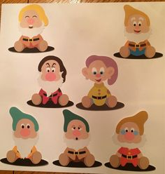 Seven Dwarfs Cuts by 2ndGradeMousekeeter on Etsy