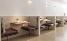 Nix Restaurant in New York Restaurant Furniture, Restaurant Interior Design, Cafe Interior, Coffee Shop Design, Cafe Design, Restaurant Booth Seating, Design Commercial, Banquette Seating, Restaurant New York