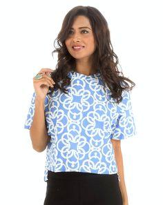 Blue Short Top  casual  fashion  clothing  onlineshopping  india 7afbc8f36