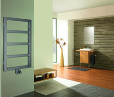 Radiator Boston - In cozy and wooden bathroom you can find calm after stressful day. Wooden Bathroom, Radiators, Showroom, Paint Colors, Boston, Cool Designs, Warm, Mirror, Storage
