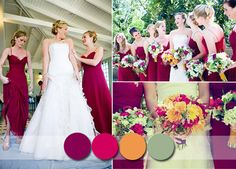 Raspberry Full Length Bridesmaid Dresses - Raspberry has already been a key color in 2014, but it's only just now that you'll really see this color come to life. It's a great statement color for autumn and works particularly well with camel and mustards, even a light sage will not let you down. It's an easy color to use in a strong theme, think hot mulled wine introductory drinks or those gorgeous bridesmaid gowns. Need I say anymore?