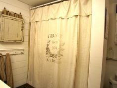 best+painters+drop+cloth+for+curtains | DIY Grain Sack Inspired Shower Curtains - Reader Feature - The ...