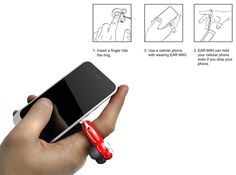 Ear MIKI is a very cute ring that helps you manage your phone and earbuds in one go. Simply pull out the earplugs from one end