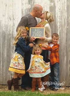 Cute idea for an anniversary family pic