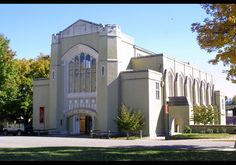 Virginia Military Institute - Stonewall Jackson Hall. It holds a cadet chapel and museum. At one time, it had a swimming pool.