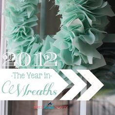 Beautiful!  The Wreaths of 2012 via @sheskindacrafty