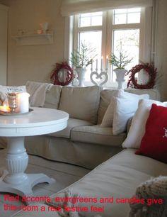 Sand Beige Ektorp sofas from Anna of Sweden - Christmas decor. www.bemz.com