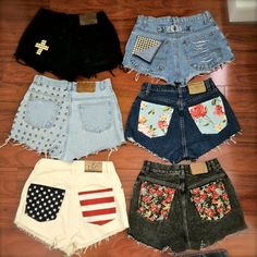 who has two thumbs and is gonna go to Goodwill today to pick out some pants for some new DIY shorts? I absolutely love the black shorts with the white cross! and the flag one! Look Fashion, Diy Fashion, Teen Fashion, Ideias Fashion, Fashion Shorts, Fashion Clothes, Fashion Trends, Shorts Bonitos, Style Tumblr