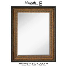 Majestic Mirrors Crackled Rectangular Mirror