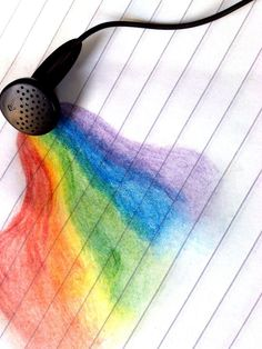 Because rainbows are pretty.  And music is Awesome.  All in all I'd say that this is    Pretty awesome. ;D