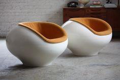 Innovative Eero Aarnio Molded Mid Century Modern Lounge Chairs ...