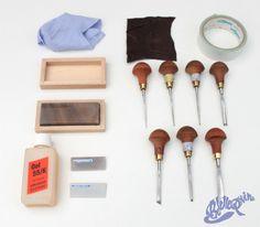 Comment j'affûte mes gouges de linogravure | Belette Print