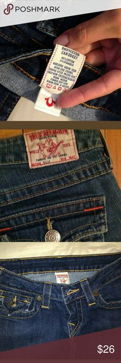 Women's true Religion Pre- owned in good condition.  No reap, holes, whatsoever..comes  smoke free home, True Religion Jeans Boot Cut