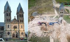German cathedral is torn down to make way for coal mining