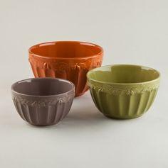 Harvest Acorn Serving/Mixing Bowls.