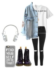 """""""all my friends are heathens take it s l o w"""" by hemmingsbxtch on Polyvore featuring polyvore, fashion, style, Topshop, Dr. Martens, Casetify, Master & Dynamic and clothing"""