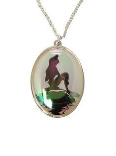 Disney The Little Mermaid Iridescent Silhouette Necklace - Hot Topic Cute Jewelry, Body Jewelry, Jewelry Box, Jewelery, Sea Jewelry, Jewelry Necklaces, Bracelets, Disney Princess Ariel, Disney Girls