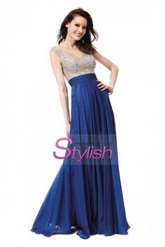 Prom Dresses 2015 Bateau Prom Dresses A Line Beaded Tulle Bodice With Long Chiffon Skirt , You will find many long prom dresses and gowns from the top formal dress designers and all the dresses are custom made with high quality Cocktail Dresses Online, Evening Dresses Online, Cheap Evening Dresses, Womens Cocktail Dresses, Evening Gowns, Dress Online, Evening Party, Long Chiffon Skirt, Chiffon Ruffle