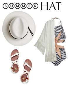 """Summer hat"" by glamand ❤ liked on Polyvore featuring Calypso Private Label, Mara Hoffman, Calypso St. Barth, Tory Burch and summerhat"