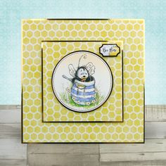 Card created using Hunkydory Crafts' Bee Happy Craft Stack