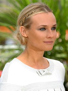 Diane Kruger's faux braid (try it with brightly colored bobby pins in darker hair)