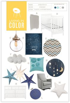 Nursery #14: Starstruck | Hellobee  so cute, definitely going to do this!!!