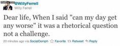 Will Ferrel tweet